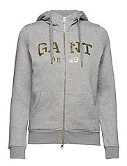 O2. GIFT GIVING FULL ZIP HOODIE - GREY MELANGE