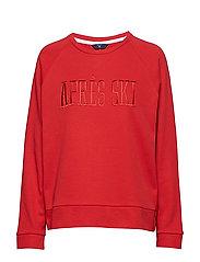 O1. SKI C-NECK SWEAT - BRIGHT RED
