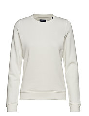 TONAL SHIELD C-NECK SWEAT - EGGSHELL