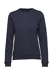 TONAL SHIELD C-NECK SWEAT - EVENING BLUE