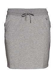 TONAL SHIELD SWEAT SKIRT - GREY MELANGE