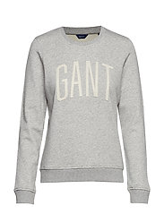 D1. LOGO C-NECK SWEAT - LIGHT GREY MELANGE