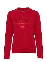 D2. GANT 1949 C-NECK SWEAT - RED