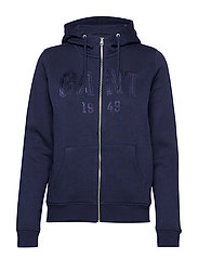 D2. GANT 1949 FULL ZIP HOODIE - EVENING BLUE