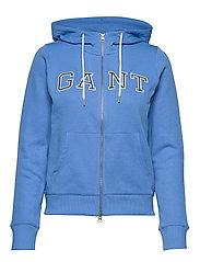 D1. GANT GRAPHIC ZIP HOODIE - PACIFIC BLUE