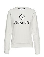 GANT LOCK UP C-NECK SWEAT - EGGSHELL