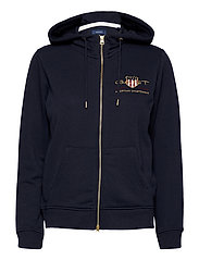 D2. ARCHIVE SHIELD FULL ZIP HOODIE - EVENING BLUE