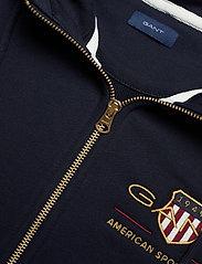 GANT - D2. ARCHIVE SHIELD FULL ZIP HOODIE - hoodies - evening blue - 2