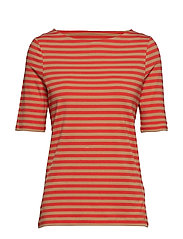 D1. BOATNECK STRIPED TOP