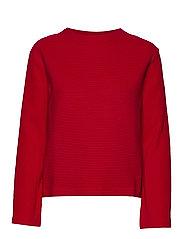 D1. RIB STRUCTURE SWEAT - BRIGHT RED