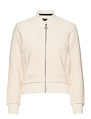 D1. JERSEY STRUCTURE JACKET - CREAM