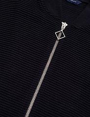 GANT - D1. JERSEY STRUCTURE JACKET - sweatshirts - evening blue - 2