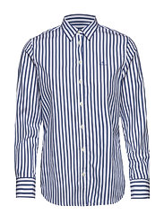THE BROADCLOTH STRIPED SHIRT - BRIGHT COBALT