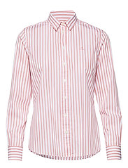 THE BROADCLOTH STRIPED SHIRT - SUMMER ROSE