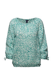 O1. DITZY FLOWER BLOUSE - EMERALD GREEN