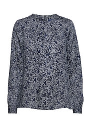 O3. FEATHERWEIGHT PRINTED BLOUSE - MARINE