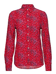 O2. SNOWDROP SPREAD SHIRT BLOUSE - RED