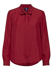 O2. PEACHED BOW BLOUSE SMU - WINTER WINE