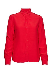 O2. CREPE SHIRT BLOUSE - BRIGHT RED