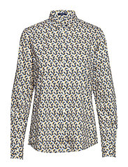D1. AUTUMN PRINT STRETCH BC SHIRT - HONEY GOLD
