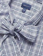 Gant - D1. TP CHECKED BOW BLOUSE - pitkähihaiset paidat - crisp blue - 2