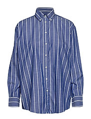 D1. STRIPED CHAMBRAY SHIRT - CRISP BLUE