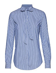D1. TP BC STRIPED BOW BLOUSE - COLLEGE BLUE