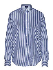 D1. TP BC STRIPED OVERSIZED SHIRT - COLLEGE BLUE