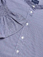 GANT - D1. TP SMOCK SLEEVE CHECK SHIRT - long-sleeved shirts - crisp blue - 3