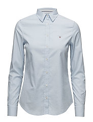 STRETCH OXFORD SOLID SLIM SHIRT - LIGHT BLUE