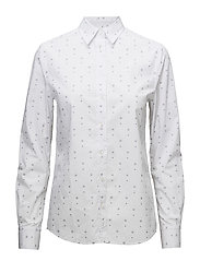 OP2. DOT FOULARD SHIRT - WHITE