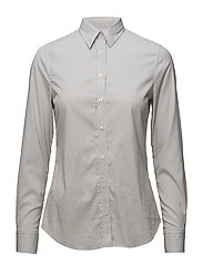 OP2. TP STRIPED JASPÉ SHIRT - WINDY GRAY