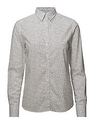 O2. VOILE FRECKLE DOT SHIRT - EGGSHELL