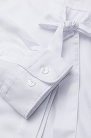 Gant - O1. TP OXFORD BOW BLOUSE - pitkähihaiset puserot - white - 2