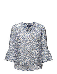 O2. LINKED FLORAL TOP - WHITE