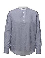 OP2. TP SEERSUCKER POPOVER SHIRT - COLLEGE BLUE