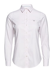 STRETCH OXFORD BANKER SLIM SHIRT - LIGHT PINK
