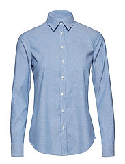 O1. SNOWDOT OXFORD SHIRT - NAUTICAL BLUE