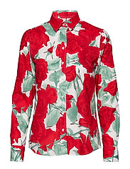 O1. ROSE VOILE SHIRT - BRIGHT RED