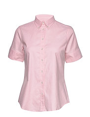 STRETCH OXFORD SOLID SS SHIRT - LIGHT PINK
