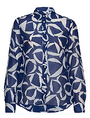 D1. CRESCENT BLOOM CO SILK SHIRT - CRISP BLUE