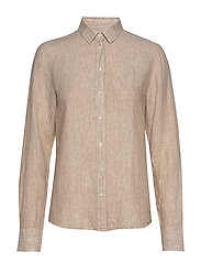 THE LINEN CHAMBRAY SHIRT - DRY SAND