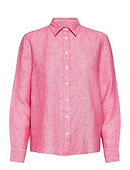 THE LINEN CHAMBRAY SHIRT - WATERMELON RED