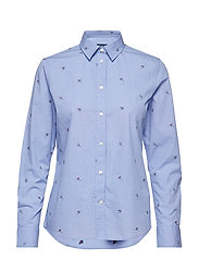 O1. WINTER SKIER SHIRT - PERIWINKLE BLUE