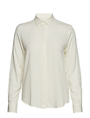 G. FEATHER WEIGHT TWILL BLOUSE - EGGSHELL