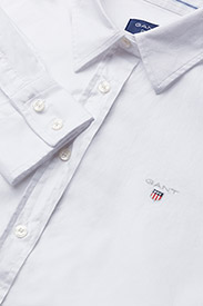 GANT - STRETCH OXFORD SOLID - long-sleeved shirts - white - 2