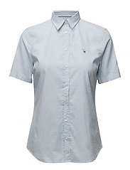 STRETCH OXFORD SOLID SS SHIRT - LIGHT BLUE
