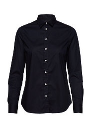 SOLID STRETCH BROADCLOTH SHIRT - EVENING BLUE