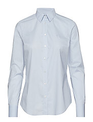 SOLID STRETCH BROADCLOTH SHIRT - HAMPTONS BLUE