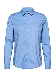 SOLID STRETCH BROADCLOTH SHIRT - MID BLUE